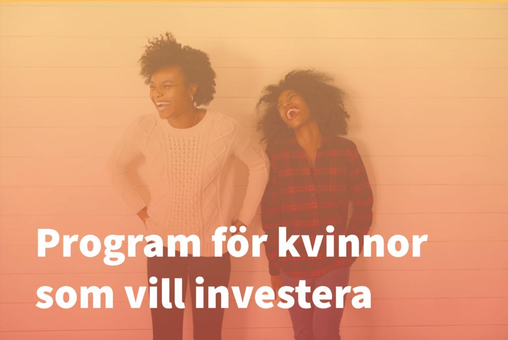 Kvinnor som vill investera, program, Linköping Science Park, Cleantech Östergötland, lead, Energimyndigheten, Swedbank, LInköpings KOmmun